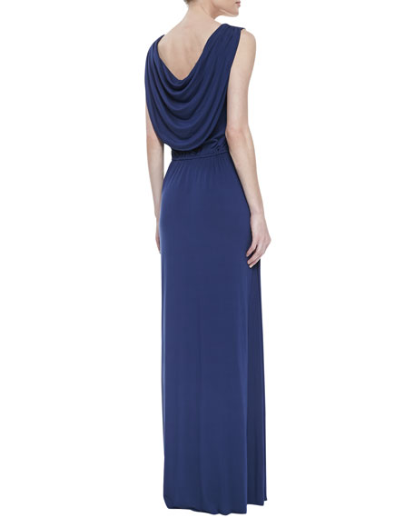Kurt Draped-Back Dress