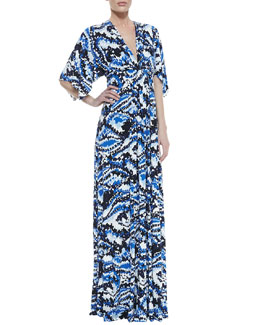 Rachel Pally Digital-Print Long Caftan Dress