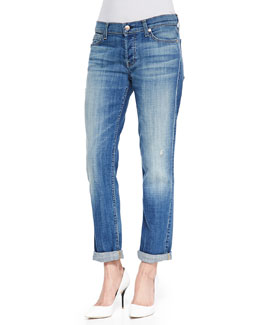 7 For All Mankind Josefina Cuffed Distressed Jeans