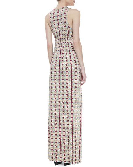 Phillipa Dart-Print Maxi Dress