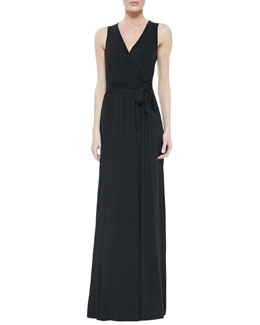 Rachel Pally Crawford Self-Tie Maxi Dress, Black, Women's