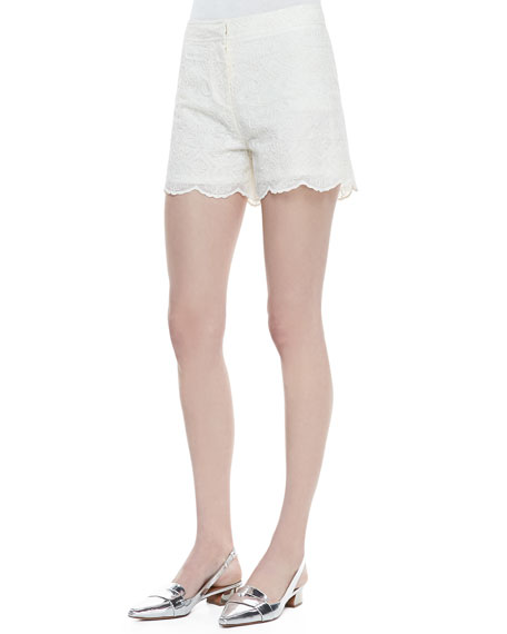 Bruna Lacy Shorts, New Ivory