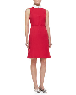 Tory Burch Kimberly Belted Collar Dress