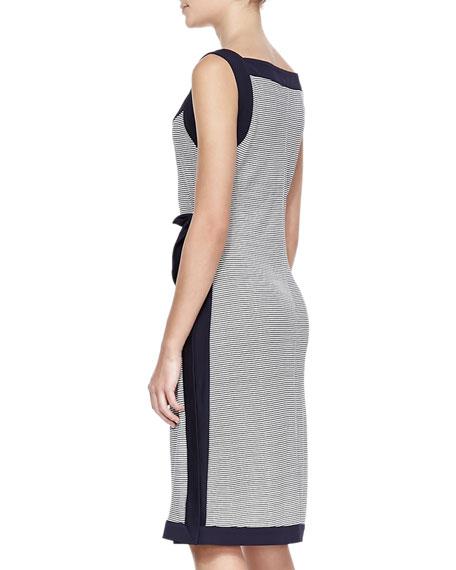 Kyla Striped Solid-Trim Dress