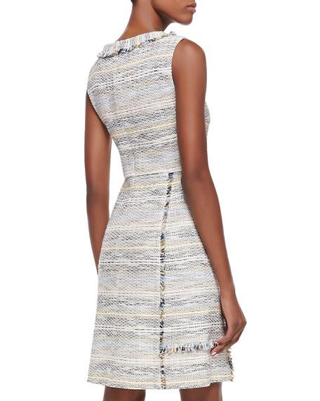 Greer Fringed Tweed Dress
