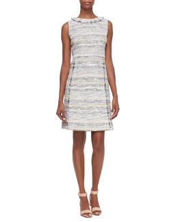 Tory Burch Greer Fringed Tweed Dress