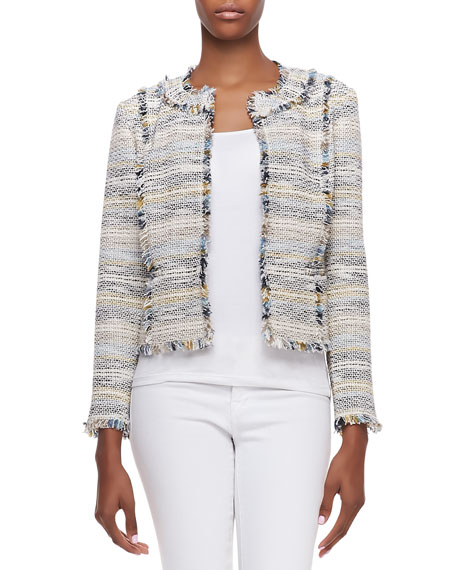 Greer Fringed Tweed Jacket