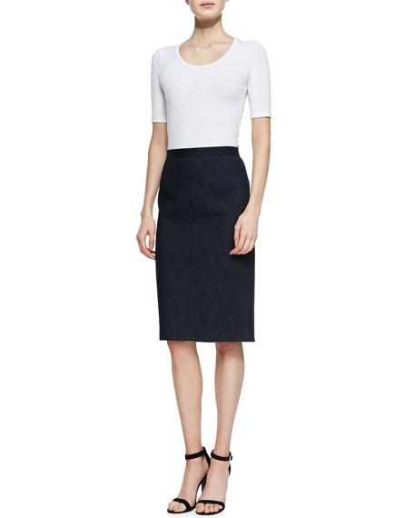 Golda 2 Denim Pencil Skirt
