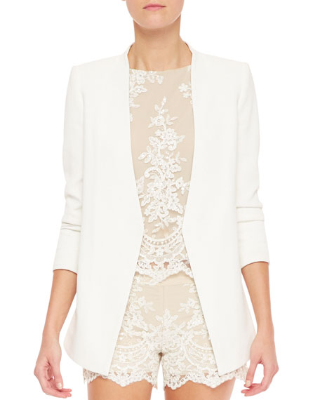 Slim-Cut Long Blazer