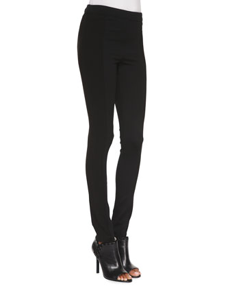 Seamed-Detail Combo Leggings