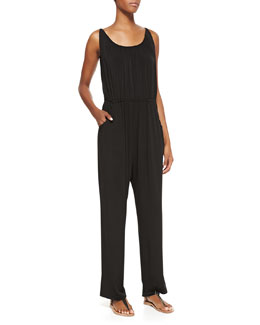 Melissa Masse Millennium Knit Sleeveless Jumpsuit