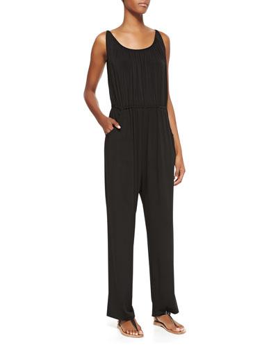 Melissa Masse Millennium Knit Sleeveless Jumpsuit
