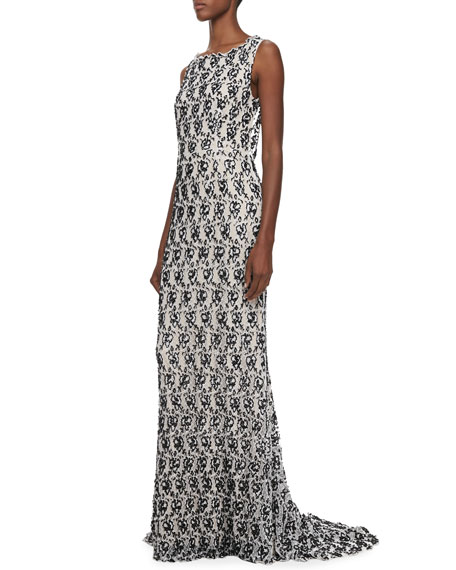 Saba Slim Embellished Gown