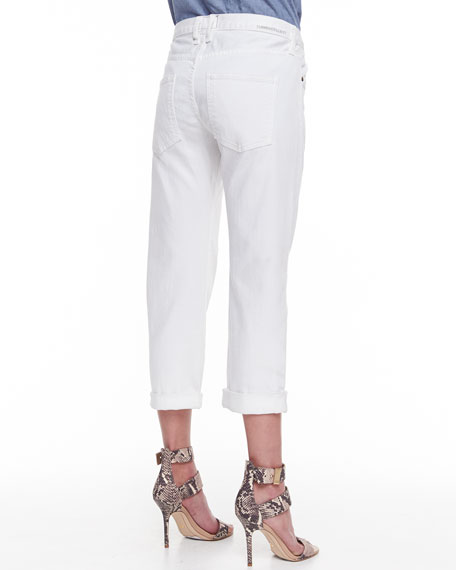 The Boyfriend Relaxed Cropped Jeans