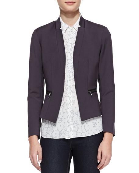 Femme Zip-Pocket Suit Jacket