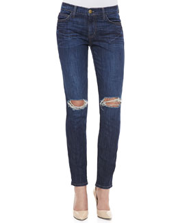 Current/Elliott Destroyed Skinny Ankle Jeans, Bedford