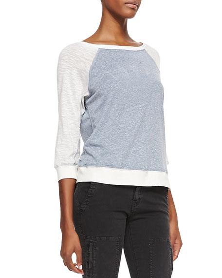 Letterman Two-Tone Slub Sweatshirt
