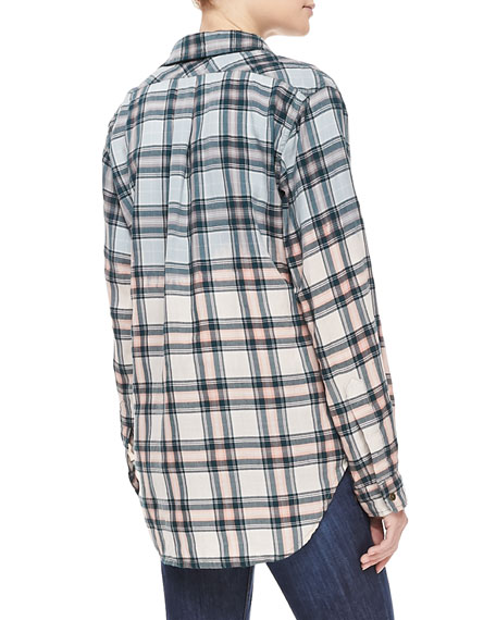 Plaid Prep School Shirt, Ombre Laurel