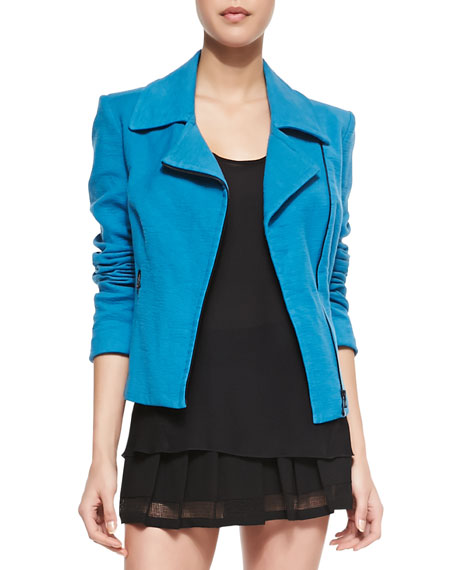 Long-Sleeve Moto Jacket