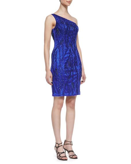 One-Shoulder Beaded Dress