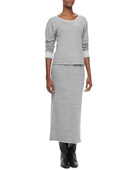 Cona Straight Jersey Midi Skirt