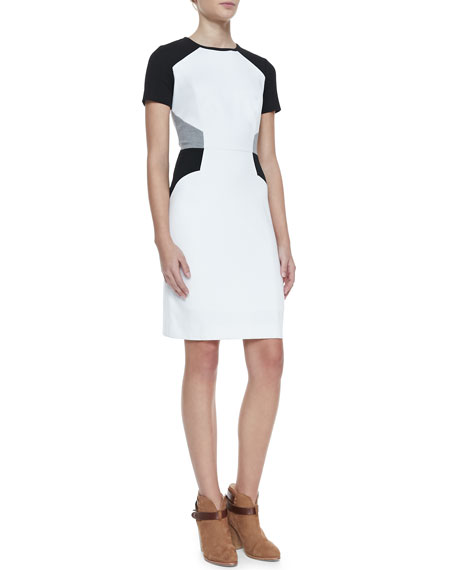 Slim Colorblock Ponte Dress
