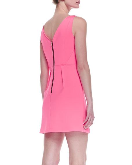 Neon Outside-Seam Shift Dress