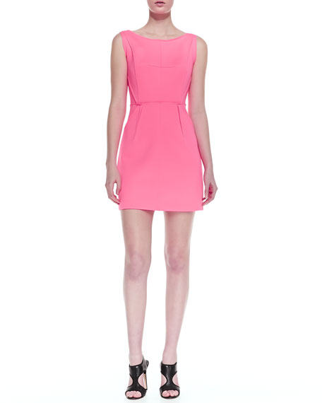 Neon Outside-Seam Shift Dress