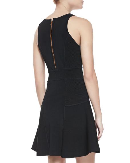 Fit & Flare Sleeveless Ponte Dress