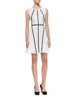 Milly Knit Architectural-Seam Dress