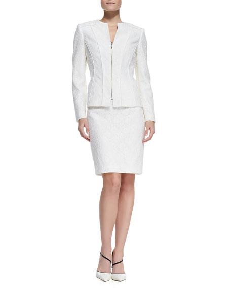 Ivory Lace Suit