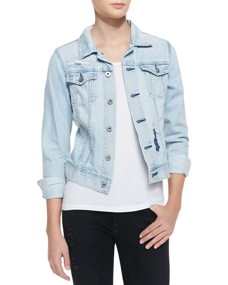 Robyn Denim Jacket, Blue Jay Mend