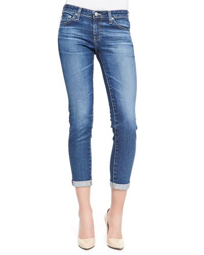 AG Adriano Goldschmied Stilt Skinny Roll-Up Jeans, 11 Years Journey Blue