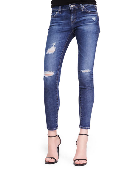 Skinny Distressed Ankle Jeans, 11 Years Swapmeet