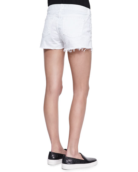 Low Rise Cutoff Denim Shorts, Vixen White