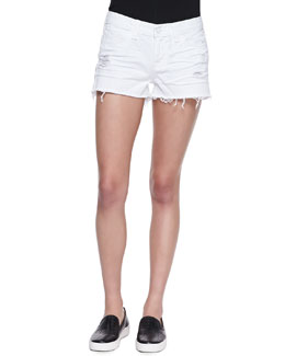 J Brand Jeans Low Rise Cutoff Denim Shorts, Vixen White