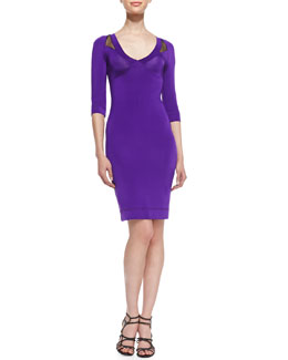 Just Cavalli 3/4-Sleeve Jersey Dress