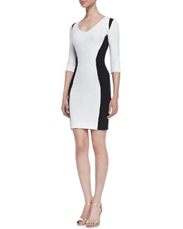 Just Cavalli Bicolor Ponte Dress