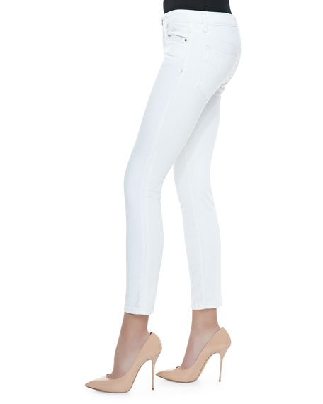 Pennie Cropped Skinny Jeans, Optic White