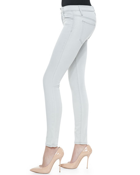 Isis Skinny Ankle Jeans, Light Gray