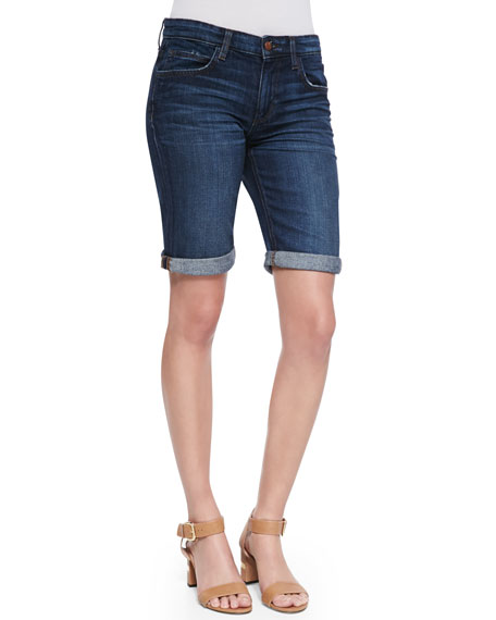 Zendaya Easy Fit Bermuda Shorts, Dark Blue