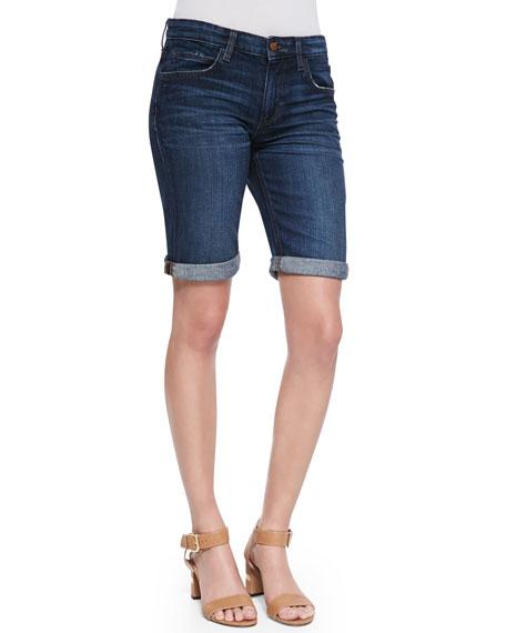 Zendaya Easy Fit Bermuda Shorts, Dark Blue