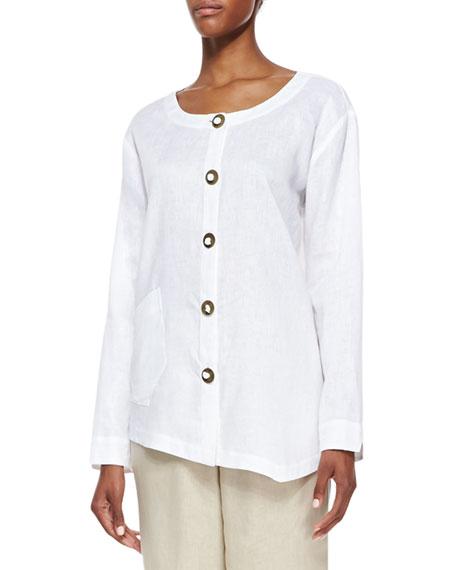 Linen Asymmetric Shirt