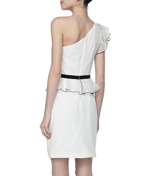 One-Shoulder Ruffled Cocktail Dress