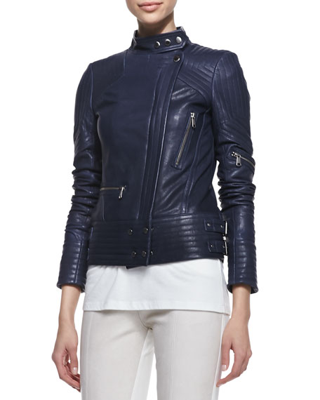 Jett Quilted Asymmetric Leather Jacket