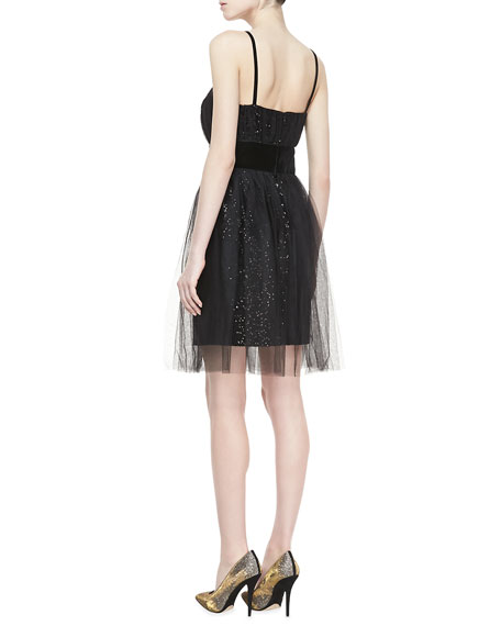 Sequined Velvet Cocktail Dress
