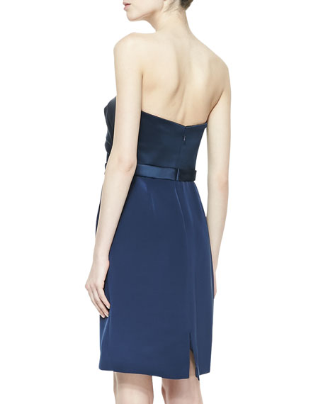 Strapless Cocktail Dress, Marine