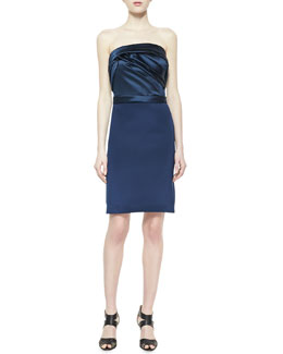 Notte by Marchesa Strapless Cocktail Dress, Marine