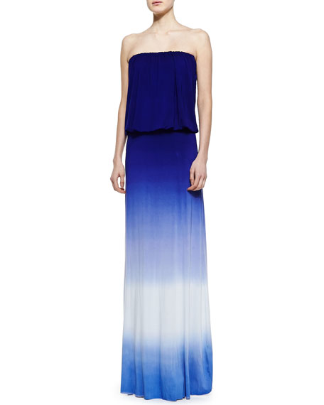 Sydney Strapless Ombre Maxi Dress