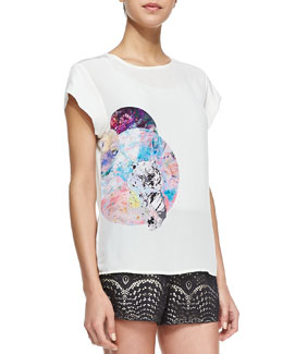 12th Street by Cynthia Vincent Animal-Graphic Loose Tee